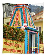 Colorful Temple - Rishikesh India Tapestry