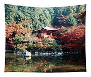 Temple Behind A Pond, Daigo-ji Temple Tapestry