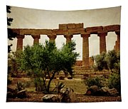 Temple Of Juno Lacinia In Agrigento Tapestry