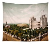 Temple Square Salt Lake City 1899 Tapestry