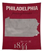Temple University Owls Philadelphia Pennsylvania College Town State Map Poster Series No 103 Tapestry