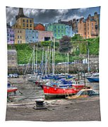 Tenby Harbour In Summer 4 Tapestry