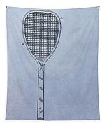 Tennis Racket Patent Tapestry by Dan Sproul