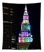 Terminal Tower Rainbow Tapestry