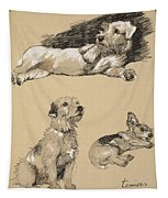 Terriers, 1930, Illustrations Tapestry