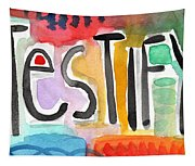 Testify Greeting Card- Colorful Painting Tapestry
