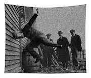 Testing Football Helmets In 1912 Ouchhhhh Tapestry