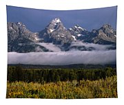 1m9396-tetons Above Fog, Wy Tapestry