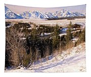Tetons In The Distance Tapestry