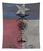 Texas Badge Patent On Texas Flag Tapestry