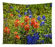 Texas Bluebonnets And Red Indian Paintbrush Tapestry