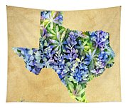 Texas Blues Texas Map Tapestry