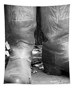Texas Boots Portrait - Bw 02 Tapestry