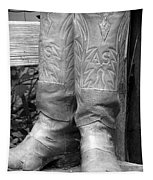 Texas Boots Portrait - Bw 03 Tapestry