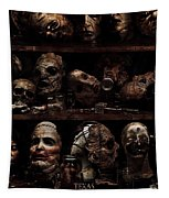 Texas Chainsaw 3d Faces Tapestry
