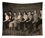 Texas Cowgirls 1950s Tapestry