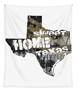 Texas Map Cool Tapestry