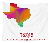 Texas State Map Collection 2 Tapestry