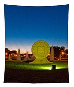 Texas Tech Seal At Night Tapestry by Mae Wertz