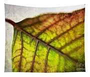 Textured Leaf Abstract Tapestry