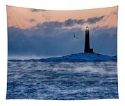 Thacher Island Lighthouse Seagull Passes Tapestry