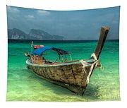 Thai Boat  Tapestry