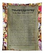Thanksgiving By Ella Wheeler Wilcox Tapestry