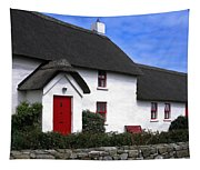 Thatched Roof House Tapestry