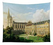 The Abbey Church Of Saint-denis And The School Of The Legion Of Honour In 1840 Oil On Canvas Tapestry