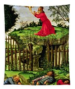 The Agony In The Garden, C.1500 Oil On Canvas Tapestry