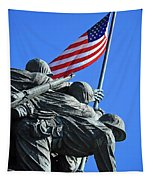 The American Flag Atop Mount Suribachi -- The Iwo Jima Memorial Tapestry