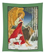 The Angel The Lion And The Lamb Tapestry