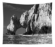 The Arch Cabo San Lucas In Black And White Tapestry