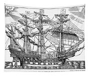 The Ark Raleigh The Flagship Of The English Fleet From Leisure Hour Tapestry