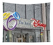 The Art Of Disney Signage Selective Coloring Digital Art Tapestry