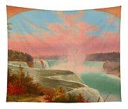 The Artist At Niagara Tapestry