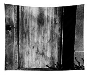 The Back Door Bw Tapestry