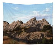 The Badlands In South Dakota Oil Painting Tapestry