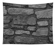 The Battery Wall In Black And White Tapestry