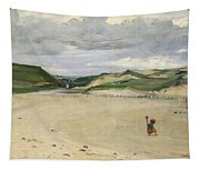 The Beach At Ambleteuse, 1869 Oil On Canvas Tapestry