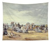 The Beach At Trouville, 1873 Tapestry
