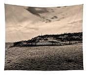 The Beach In Sepia Tapestry