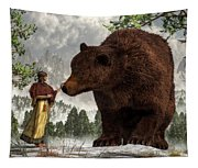 The Bear Woman Tapestry
