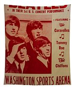 The Beatles 1st U.s. Concert Tapestry