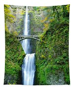 The Beauty Of Multnomah Falls Tapestry