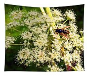 The Bee And The Flowers At Troldhaugen Tapestry
