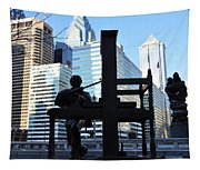 The Ben Franklin Printing Press Statue Tapestry