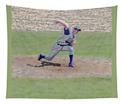 The Big Baseball Pitch Digital Art Tapestry