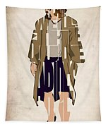 The Big Lebowski Inspired The Dude Typography Artwork Tapestry