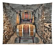 The Biltmore Estate Wine Barrels Tapestry